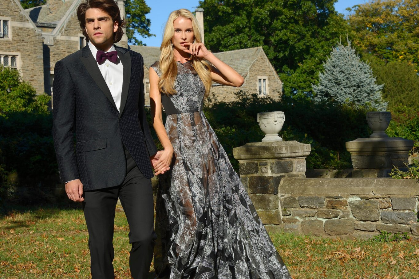 Fashion Editorial: Couple at Country Estate